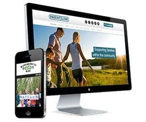 Websites shown on a monitor and mobile phone